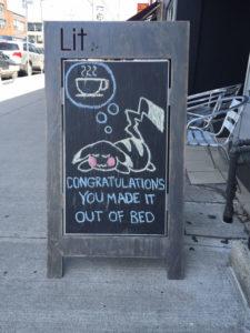 CJ Coffee Sign